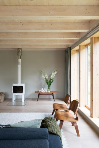 licht houtskeletbouw Barentsz huis met Scandinavisch gevoel