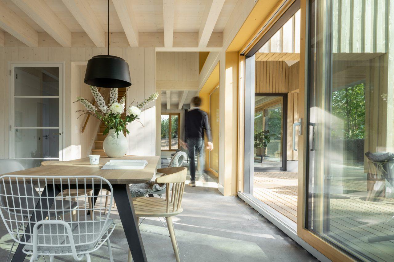Wonen in een houten huis